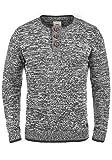 Redefined Rebel Mateo Herren Strickpullover Feinstrick Pullover Mit Rundhals Und Knopfleiste Aus 100% Baumwolle, Größe:M, Farbe:Forged Iron