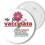 Spilla Pins 5.8 cm X Dottori Oss medico Infermieri Sanitari ecc personalizzabile IO MI SONO VACCINATO salute covid