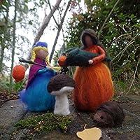 Jahreszeitendekoration Herbst, Filzfiguren für den Jahreszeitentisch, Herbstfee