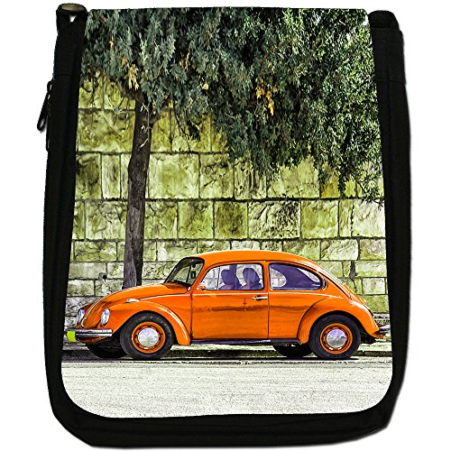 Old Classic, auto-Borsa a tracolla in tela, colore: nero, taglia: M Old Classic Orange Beetle Car