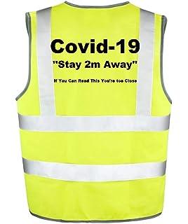 Hi Vis Hi Viz High Visibility Reflective Safety Vest//Waistcoat WITH STORAGE POCKETS FIRE MARSHAL EXECUTIVE CLASS 2