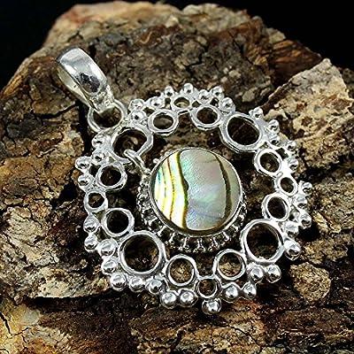 Abalone Shell 925 Sterling Silver Pendant Gemstone