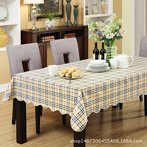 MH-RITA Kunststoff Tischdecke Tischdecken Pvc Free kalte Kunststoff Tischdecke B2M (Kunststoff Tischdecke Klar Schneeflocke)