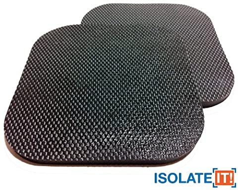 Sorbothane Vibration Isolation Heavy Duty Square Pad 1/4 (6.35mm) Thick x 6 x 6 (15.24 x 15.24cm) - 50 Duro - by Isolate It!