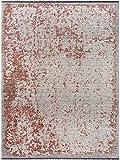 Benuta Flachgewebeteppich Ian Multicolor/Grau 100x145 cm - Vintage Teppich im Used-Look