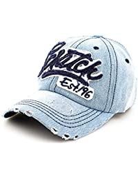 Distressed Vintage Trucker Cap Jeans Denim Unisex Scratch
