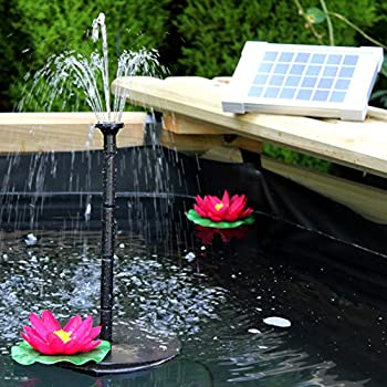 Solar Fountain Pump 2w - Floating Water Pump For Small Pond, Garden, Water Feature, Bird Bath 70 Cm Height By Pk Green 0