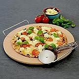 ProCook, Pizzastein, 33cm / 13in with Pizza Cutter