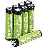 AmazonBasics AAA-Batterien, wiederaufladbar, vorgeladen, 8 Stück (Aussehen kann variieren)