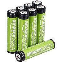 AmazonBasics Piles rechargeables AAA, pré-chargées - Lot de 8 (le visuel peut différer)