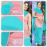 RockChin Fashions Pink and Blue Unstitch...