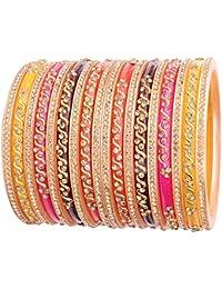 NEW ! NMII Multicolored Stylish & Stunning Design Pattern Acrylic Bangle Set For Women & Girls On Wedding,Festive...