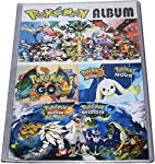 IndusBay® Pokemon Trading Card Album - Flash Fire 208 Pockets ( 26 Pages - 8 Pockets per Page)