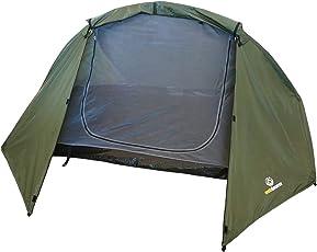 Leichtes Trekkingzelt für 1-2 Personen - Trek It Easy von outdoorer, grün, doppelwandig, geringes Packmaß - das Leichtzelt für Trekkingtouren und Wanderreisen