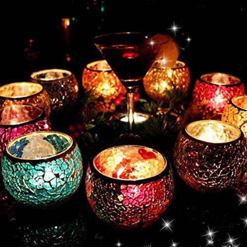 EverBrite 48PC Velas Electrónica Tealights LED Luz de Té Sin Llama con Pilas de Botón para Decoración Navideña Aniversario Año Nuveo Fiestas