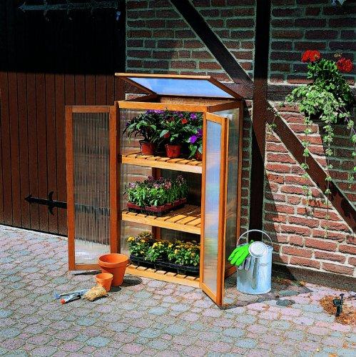 floristikvergleich.de Anzuchtschrank mit 2 Türen für Pflanzen 70x50x120 cm