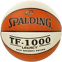Spalding Tf1000 Legacy Sz.7 (74-542Z) Balón de Baloncesto, Hombre, Naranja/Blanco, 7