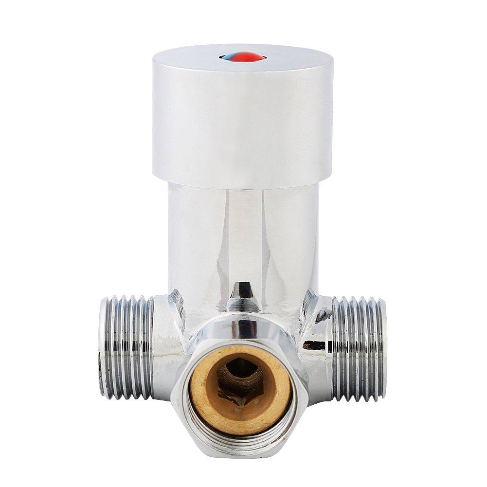 V/álvula Mezcladora de Agua Fr/ía y Caliente para Grifos g1 2 Topincn para Grifo de Sensor Autom/ático