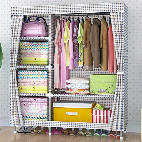 MMM& Simple armoire en tissu oxford armature en acier plus épais 25mm acier épaississement de la tuile grand placard placard (couleur : # 4)