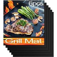QH Tapis de Cuisson Barbecue Feuille Cuisson Barbecue Tapis Anti-adhérent et Réutilisable pour Barbecue Électrique Gaz…