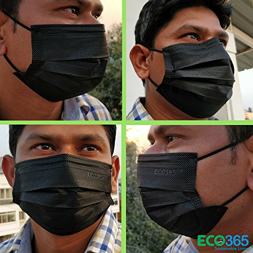 ECO365 One Use Disposable 3 Layer Activated Carbon Mask- Pack of 150