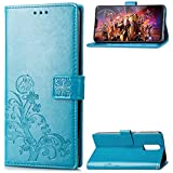 OnePlus 6 Case, Danallc [ Portable Wallet ] [ Slim Fit ] Heavy Duty Protective Comfortable Flip Cover Wallet Case Compatible With OnePlus 6 - Blue