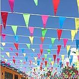JZK 80 metri Festone striscione bandierine triangolari colorate decorazione Natale festa matrimonio compleanno battesimo laurea Pasqua giardino