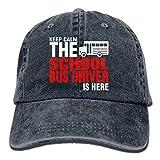 Rogerds School Bus Driver is Here Denim Hat Adjustable Women Washed Baseball Hats