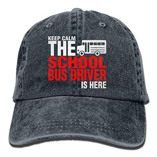 Zhgrong Caps School Bus Driver is Here Denim Hat Adjustable Mens Mini Baseball Cap Ball - Driver Herren Kostüm