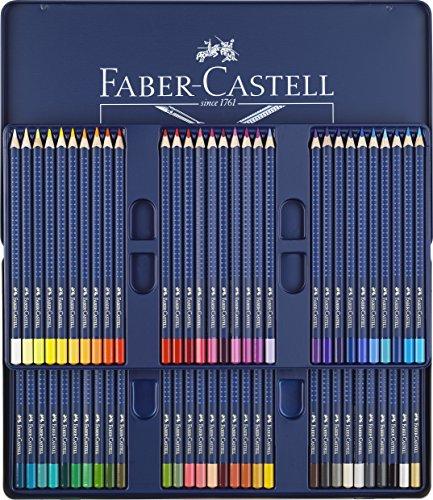 Faber-Castell 114260 Crayons de couleur ART GRIP AQUARELLE boîte métal de 60