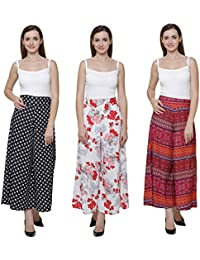 Vogue Nation Combo Of 3 Black & White Small Sun Motifs Printed, White( With Pink And Red Print) Floral Bouquet...