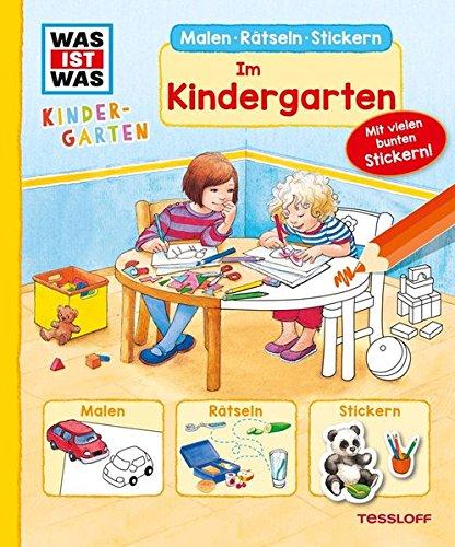 Preisvergleich Produktbild WAS IST WAS Kindergarten. Im Kindergarten: Malen, Rätseln, Stickern