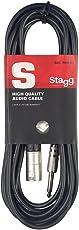 Stagg SAC3PXM DL 3M Cavo Audio Xlr M/Jack, Nero