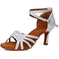 Minetom Donna Sandali Scarpe da Ballo Latino Sala da Ballo Standard Elegante Ballroom Danza Scarpe Tacco 5cm/7cm