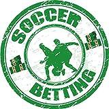 Soccer Betting Grunge Sport Stamp Hochwertigen Auto-Autoaufkleber 12 x 12 cm