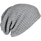 Mens Cap - TOOGOO(R) Mens Slouchy Long Beanie Knit Cap for Summer Winter Oversize gray