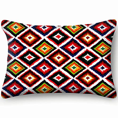 tuyi Vintage Abstract Ikat Vintage Vintage Home Decor Wedding Gift Engagement Present Housewarming Gift Cushion Cover 20x30 inch -
