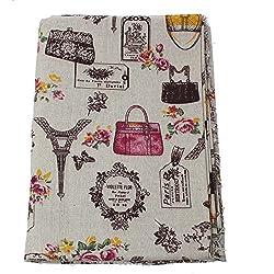 Tela de algodon vintage de lino para tapizar sillas descalzadoras para manualidades, costura cojines guirnaldas 1.00 x 50 cm .de OPEN BUY