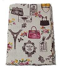 OPEN BUY Tela de algodon vintage de lino para tapizar sillas descalzadoras para manualidades, costura