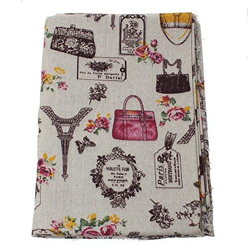 Foto de Tela de algodon vintage de lino para tapizar sillas descalzadoras para manualidades, costura cojines guirnaldas 1.00 x 50 cm .de OPEN BUY