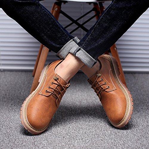 JOYTO Chaussures de Ville à Lacets Cuir Homme Oxford Derby Casual Dressing Business ÉléGantes Gris Marron Bronzer 39-47 39-47 Kaki
