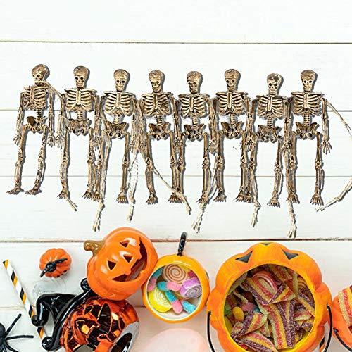 TARTIERY Mini-Skelett Modell Halloween Karnaval Fasching Skelett Schädel Knochen Anatomie Halloween Hänge Schocker Bar Room Haunted House Props