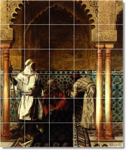 RUDOLF ERNST BACKSPLASH HISTORICA DEL MURAL CON 7  60 X 182 88 CM (30) 12 X 12 AZULEJOS DE CERAMICA