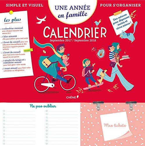 Calendrier Une année en famille : Simple et visuel pour s'organiser