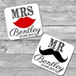 Personalised wooden wedding favour co...