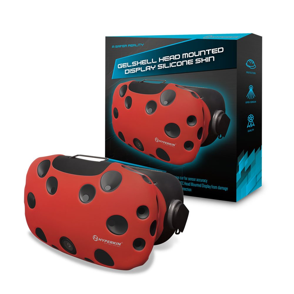 Housse Silicone Gelshell pour HTC Vive – Casque VR – rouge