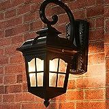 Außenleuchte Industriell Wasserdicht Wandlampe Antik Vintage Außenwandleuchte E27 Einflammig Schwarz Wandlampe Laterne Design Für Hof Garten Park Terrasse Landschaft Foyer L26*H 43CM IP44