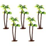 WINOMO modellträd, paket med 5, 13 cm, kokosnöt palmträd, miniatyrlandskap arkitektur, järnvägsträd