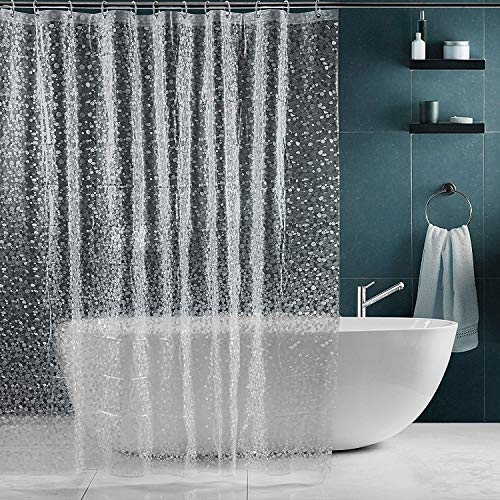 SPARIN Cortinas Baño Transparente Antimoho
