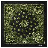 Alex Flittner Designs Bandana mit exclusiv Paisley Muster in schwarz/gelb - 100% Baumwolle
